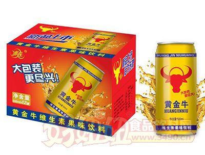 冰庄黄金牛维生素果味饮料500ml×12瓶