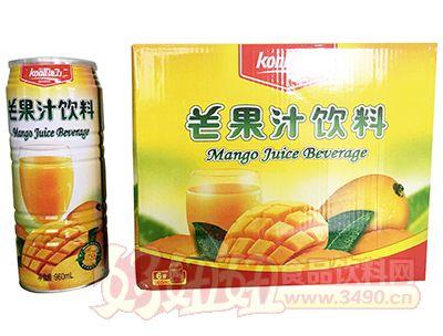 ��力芒果汁�料960ml×6瓶