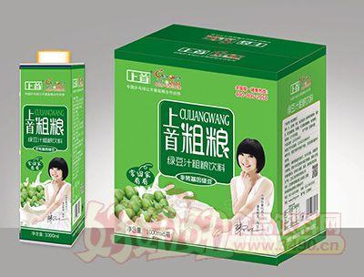 上首绿豆汁粗粮饮品1000mlx6瓶