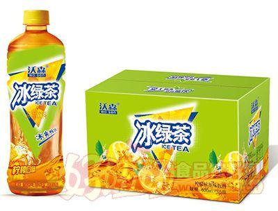 沃森冰绿茶柠檬味茶味饮料600ml×15瓶