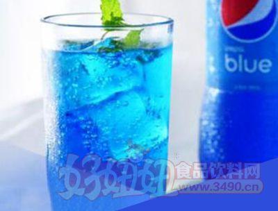 印尼进口蓝色可乐巴厘岛蓝色百事可乐blue梅子味450ml