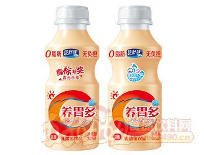 珍舒味养胃多乳酸菌饮品草莓味白盖340ml