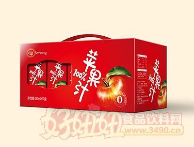 绿梦苹果汁250mlx12盒手提箱