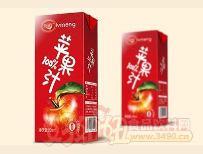 绿梦苹果汁250ml盒装