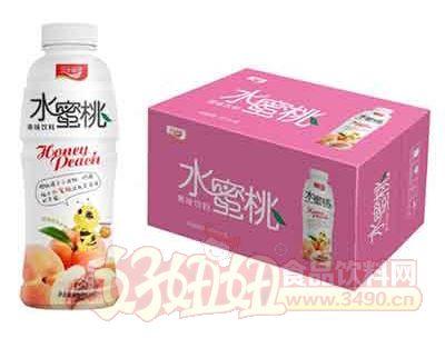 汉水绿梦水蜜桃果味饮料480mlx15瓶