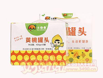 大萌果黄桃罐头12罐装425g×12