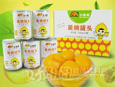 大萌果黄桃罐头礼盒装425g×12