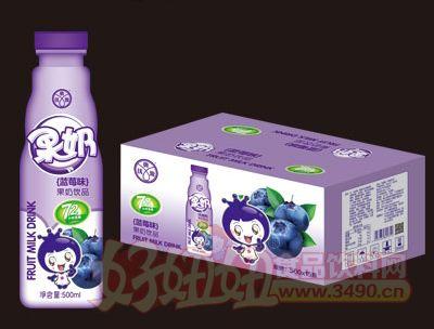 优典源果奶蓝莓味500mlX15