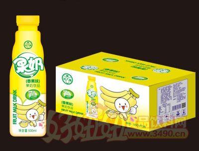 ��典源果奶香蕉味500mlX15