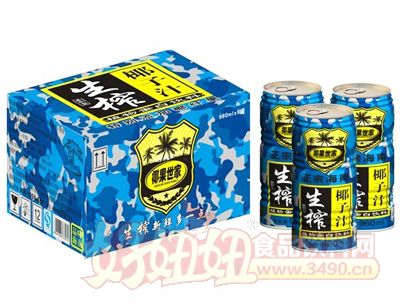 960mlx6罐生榨椰汁(大罐装)