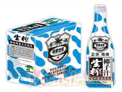 椰果世家生榨椰子汁1kg