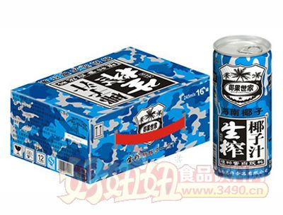 椰果世家生榨椰子汁245mlx16