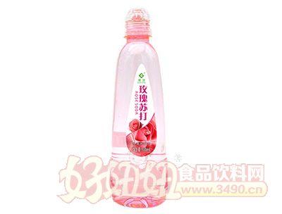 果浓玫瑰苏打水500ml