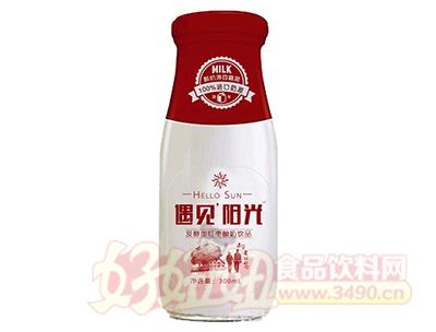 嘉茗遇见阳光发酵型红枣酸奶饮品300ml(玻璃瓶)