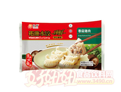 祐康顶鲜香菇猪肉水饺720g