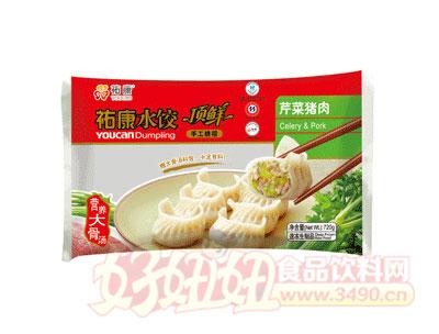 祐康顶鲜芹菜猪肉水饺720g