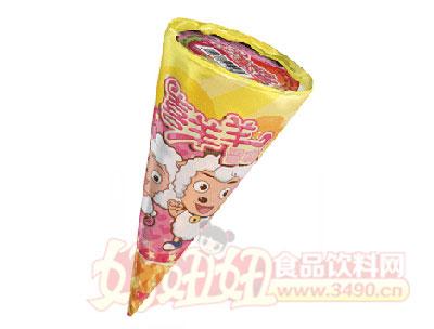�v康喜羊羊甜筒草莓味雪糕