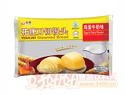 �v康刀切馒头鸡蛋牛奶味450g