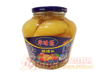 华味斋桃罐头1.25kg