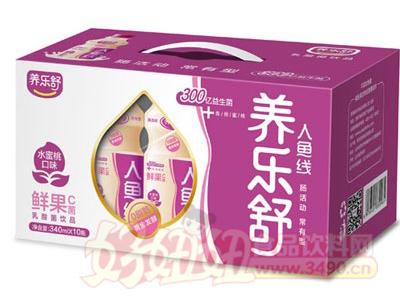 养乐舒水蜜桃味鲜果C菌340mlx10瓶