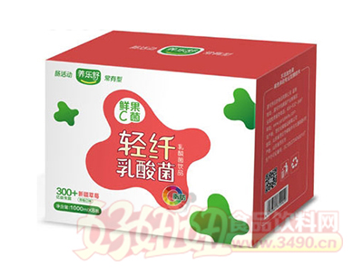 养乐舒鲜果C菌轻纤乳酸菌草莓味1Lx8瓶