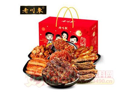 老川东麻辣牛肉干大礼包礼盒1.1kg