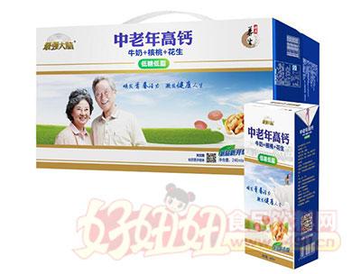 最强大脑中老年高钙核桃花生牛奶