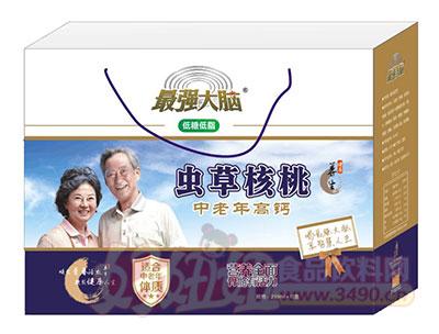最强大脑中老年高钙虫草核桃乳礼盒250ml×12盒