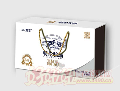 初元甄享特伦牧场高钙奶乳味饮料250mlX12盒(初元礼盒)
