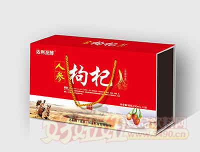 达利至醇人参枸杞养生乳250mlX12盒(初元礼盒)