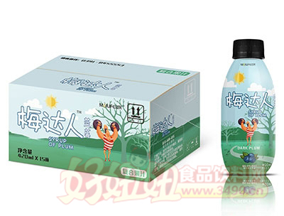梅达人蓝莓果汁420mlx15瓶