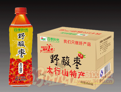 四季阳光 野酸枣 果汁饮料500ml×15瓶