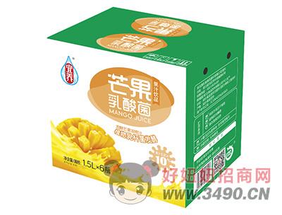宜养芒果乳酸菌果汁lehu国际app下载1.5L×6瓶