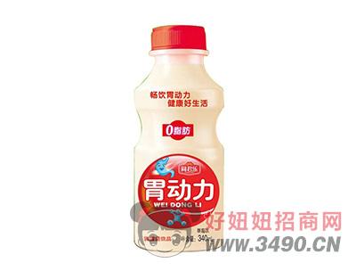 同君乐胃动力草莓味乳酸菌340ml
