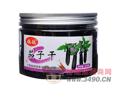 鸽鸽茄子干果蔬干休闲小食品250g