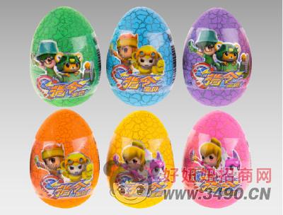 动漫乐园指令宝贝3元裂纹蛋(儿童玩具食品)糖玩