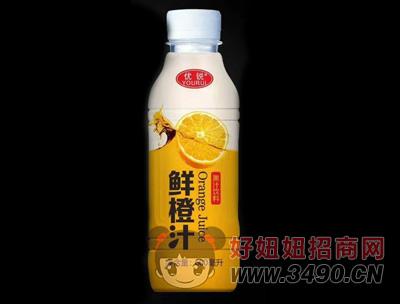 优锐鲜橙汁600ml
