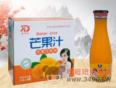 喜多客芒果汁饮料1.5LX6