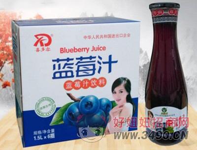 喜多客蓝莓汁饮料1.5LX6