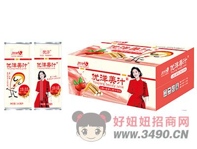 优洋美汁山楂+麦芽山药汁饮料250ml易拉罐