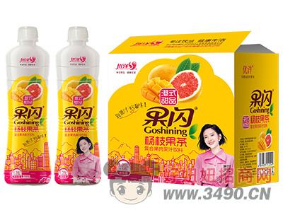 优洋果闪杨枝果茶复合果肉果汁饮料1.28L×6瓶