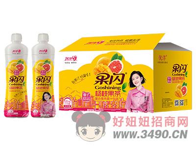 优洋果闪杨枝果茶复合果肉果汁饮料520ml×15瓶