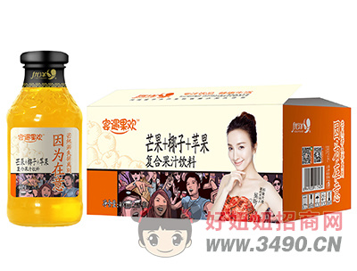 优洋宴遇果欢猕猴桃+椰子+苹果复合果汁饮料400ml×15瓶1