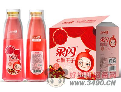 优洋果闪石榴王子果汁饮料1.5L×6瓶