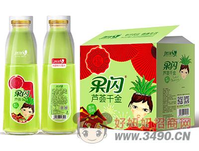 优洋果闪芦荟千金果汁饮料1.5L×6瓶