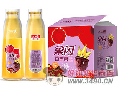 优洋果闪百香果王果汁饮料1.5L×6瓶