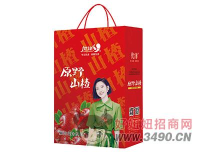 优洋原野山楂果肉果汁饮料250ml手提袋