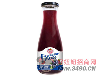 妙饮果坊鲜榨蓝莓汁1.5L