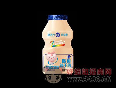 肠道新干线100%进口奶源乳酸菌饮品蓝瓶100ml(正面)