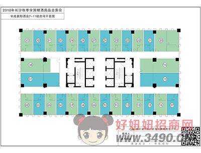 宇成朝阳酒店7―11楼平面图